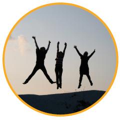 kik opleiding, springende kinderen