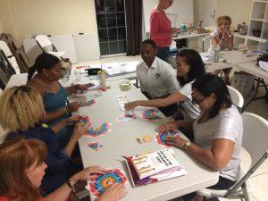 deelnemers kik opleiding curacao 2019 tijdens uitleg kracht van 8 kaartspel