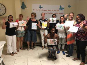 deelnemers KIK Opleiding Curacao 2019 laten een van de opdrachten zien
