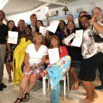 deelnemers KIK Opleiding Curacao 2019 zijn geslaagd voor de opleiding en tonen hun erkende diploma